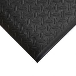 Černá gumová protiskluzová protiúnavová průmyslová rohož - 90 x 60 x 0,9 cm