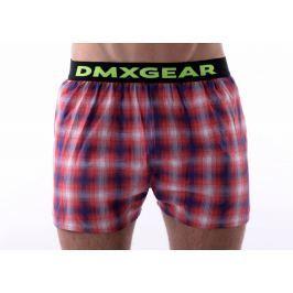 DMXGEAR luxusní pánské volné trenýrky Red Tartan - Velikost: M