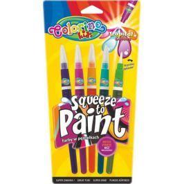 Barvy se štětcovým hrotem Colorino Tropical 5 barev