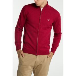 Svetr GANT COTTON WOOL ZIP CARDIGAN