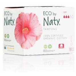 Naty Tampony Super (18 ks) Menstruační tampony z biobavlny