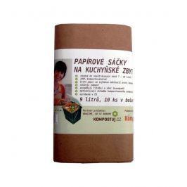 HBABio Papírové pytlíky na kuchyňský odpad - 9 l (10 ks)
