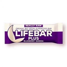 Lifefood Lifebar Plus - borůvková s quinoou RAW/BIO (47 g)