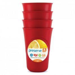 Preserve Sada pohárků (4 ks) - červená