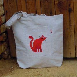 Český západ Nákupní taška s červenou kočičkou