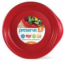 Preserve Sada talířů (4 ks) - červená