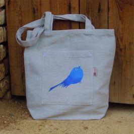Český západ Nákupní taška s modrým ptáčkem