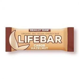 Lifefood Lifebar - karobová s lískovými oříšky RAW/BIO (47 g)