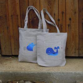 Český západ Nákupní taška s modrou velrybou