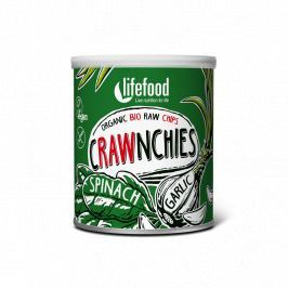 Lifefood Crawnchies špenátové s česnekem RAW & BIO (30 g)