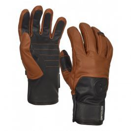 Ortovox Swisswool Leather Glove , S brown  0 1 P