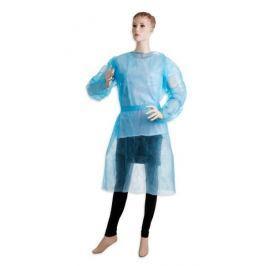 Jednorázový návštevnický plášť 10 ks - modrý