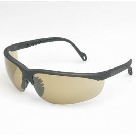 Ochranné brýle s černými poloobroučkami - s kouřovým zorníkem