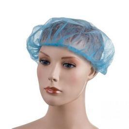 Jednorázová čepice z netkané textilie modrá 100 ks - velikost L