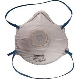 Mušlový respirátor z polypropylenu s výdechovým ventilkem FFP2 - 12 kusů