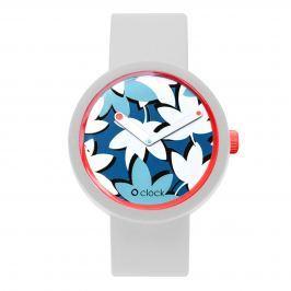 Obag O CLOCK CIFERNÍK FLOWER COBALTO A O CLOCK PÁSEK BÍLÝ Velikost: S (obvod 16 cm)