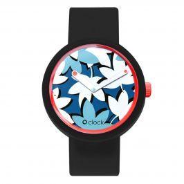 Obag O CLOCK CIFERNÍK FLOWER COBALTO A O CLOCK PÁSEK ČERNÝ Velikost: M (obvod 18 cm)