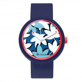 Obag O CLOCK CIFERNÍK FLOWER COBALTO A O CLOCK PÁSEK OCEAN Velikost: M (obvod 18 cm)
