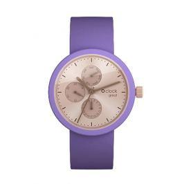 Obag O CLOCK CIFERNÍK GREAT DATE SOLEIL RŮŽOVÝ A O CLOCK PÁSEK GREAT VIOLA Velikost: L (obvod 20 cm)