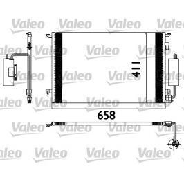 chladič klimatizace - kondenzátor VALEO VA 817648