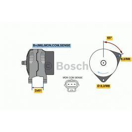 Alternátor BOSCH-výměnný díl BO 0986044651