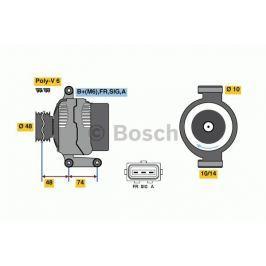 Alternátor BOSCH-výměnný díl BO 0986049980