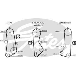 GATES Rozvodový řemen GATES (122 x 3/4) GT 5002