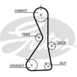 GATES Rozvodový řemen GATES (122 x 29) GT 5481XS 5481XS GAT