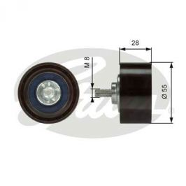 Vratná/vodicí kladka, klínový žebrový řemen GATES GT T36373 T36373 GAT