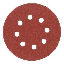 Vorel Brusný papír 125 mm P80 s otvory 5 ks suchý zip