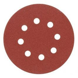 Vorel Brusný papír 125 mm P150 s otvory 5 ks suchý zip
