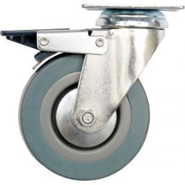 Vorel Kolečko otočné, gumové s brzdou 30kg 75/21/104mm