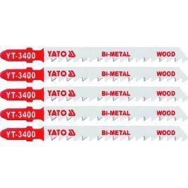 Yato List do přímočaré pily 100 mm na dřevo TPI6 5 ks Bi-Metal