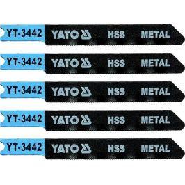 Yato List pilový do přímočaré pily 70 mm na kov TPI36 5 ks