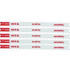 Yato List pilový do přímočaré pily univerzální typ U 10-5TPI sada 5 ks
