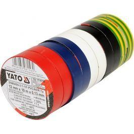 Yato Páska izolační 12 x 0,13 mm x 10 m barevná 10 ks