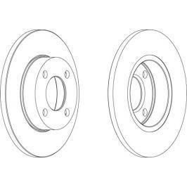 FERODO (FEDERAL-MOGUL) Brzdový kotouč FERODO FE DDF048