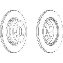 FERODO (FEDERAL-MOGUL) Brzdový kotouč FERODO FE DDF1550