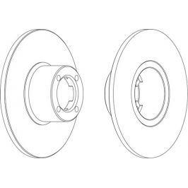 FERODO (FEDERAL-MOGUL) Brzdový kotouč FERODO FE DDF286