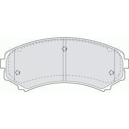 Brzdové destičky FERODO PREMIER FE FDB1603
