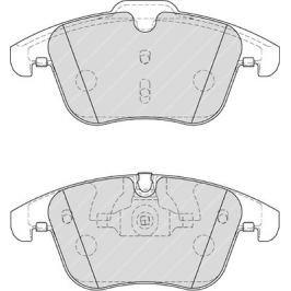Brzdové destičky FERODO PREMIER FE FDB4107