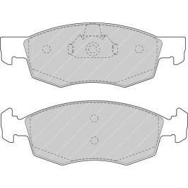 Brzdové destičky FERODO SL (Target) FE FSL1376