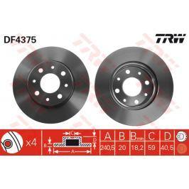 TRW KFZ Ausruestung GmbH Brzdový kotouč DF4375 DF4375 TRW