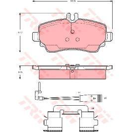 Sada brzdových destiček, kotoučová brzda TRW KFZ Ausruestung GmbH GDB1480 TRW