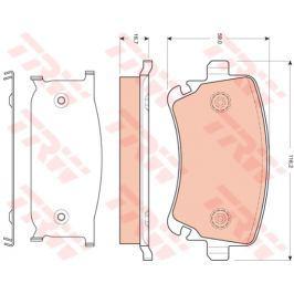 Sada brzdových destiček, kotoučová brzda TRW KFZ Ausruestung GmbH GDB1661 TRW