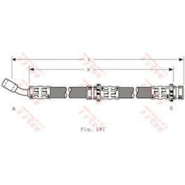 Brzdová hadice TRW KFZ Ausruestung GmbH PHD198 TRW
