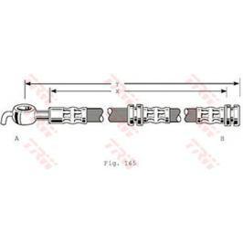 Brzdová hadice TRW KFZ Ausruestung GmbH PHD347 TRW