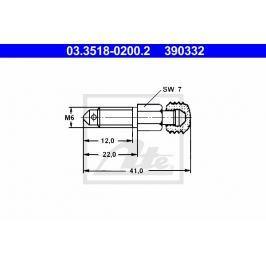 Odvzdušňovací šroub ATE AT 390332