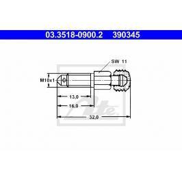 Odvzdušňovací šroub ATE AT 390345