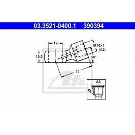 Spojka kovového potrubí ATE AT 390394
